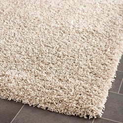 Safavieh California Cozy Solid Beige Shag Rug (6' 7 Square)