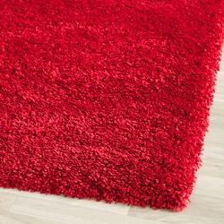 Cozy Solid Red Shag Rug (3' x 5')