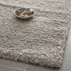 Safavieh California Cozy Solid Silver Shag Rug (6' 7 Square)