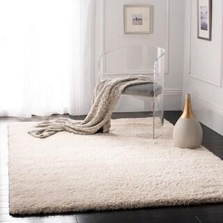 Cozy Solid Ivory Shag Rug (8'6 x 12')