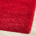 Cozy Solid Red Shag Rug (6'7 x 9'6)