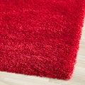 Safavieh Cozy Solid Red Shag Rug (6' 7 Square)