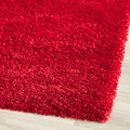 Cozy Solid Red Shag Rug (6' 7 Square)