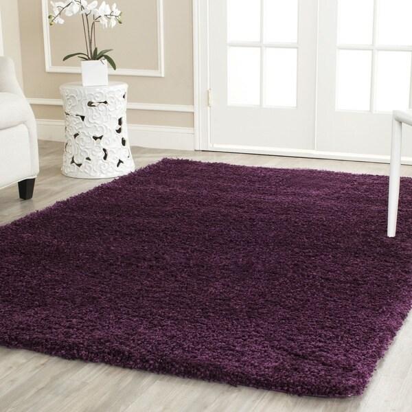 Safavieh California Cozy Solid Purple Shag Rug (6' 7 Square)