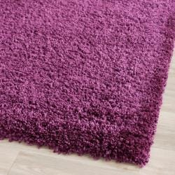Cozy Solid Purple Shag Rug (8'6 x 12')