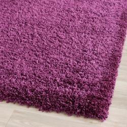 Cozy Solid Purple Shag Rug (8'6 x 12')