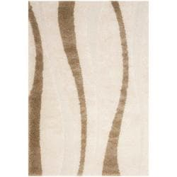 Safavieh Ultimate Cream/Dark Brown Indoor Shag Rug (8'6 x 12')