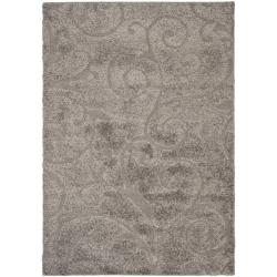Safavieh Florida Ultimate Shag Dark Grey/ Beige Rug (8'6 x 12')