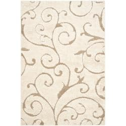 Ultimate Cream/Beige Shag Area Rug (8'6