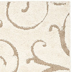 Safavieh Ultimate Cream/Beige Shag Area Rug (8'6