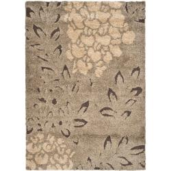Ultimate Smoke/ Dark Brown Shag Rug (8'6 x 12')