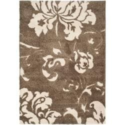 "Safavieh Ultimate Smoke/Beige Shag Area Rug (8'6"" x 12')"