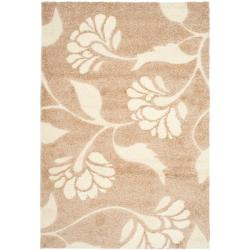 "Ultimate Plush Beige/Cream Shag Rug (8'6"" x 12')"