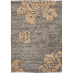 Ultimate Dark Grey/ Beige Shag Rug (8'6 x 12')