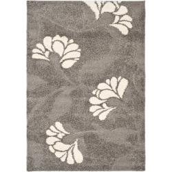 Ultimate Dark Grey/ Beige Shag Polypropylene Rug (8'6 x 12')