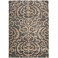 Ultimate Dark Grey/ Tan Shag Rug (8'6 x 12')