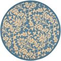 Blue/ Natural Indoor Outdoor Rug (6'7 Round)
