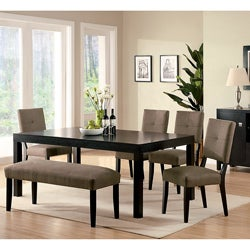 Furniture of America Rockwell Espresso Finish 6-piece Dining Set