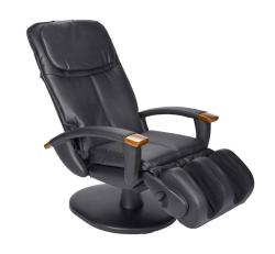 Black Dual Disc Vinyl Human Touch Massage Chair (Refurbished)