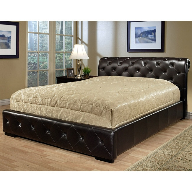 Abbyson Living Delano Dark Brown Bi-cast Leather Queen-size Bed