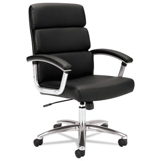 basyx by HON VL103 Series Mid-Back Leather Executive Chair