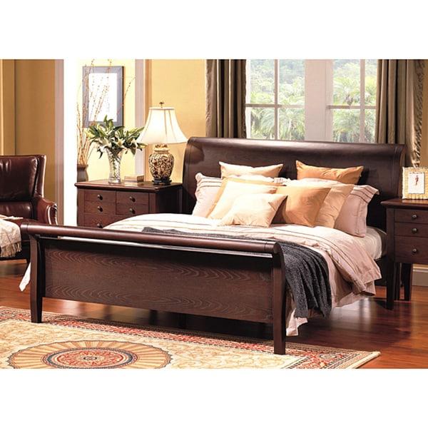 Abbyson Living Novara California King-size Sleigh Bed