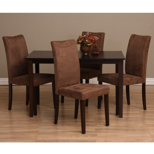 Shino 5 piece Dining Furniture Set Table Room Chairs Piece Home Wood ...
