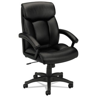 basyx by HON VL151 Series Black Leather Executive High-Back Chair