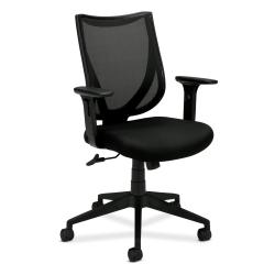 basyx by HON Black Mid-back Mesh Back Chair