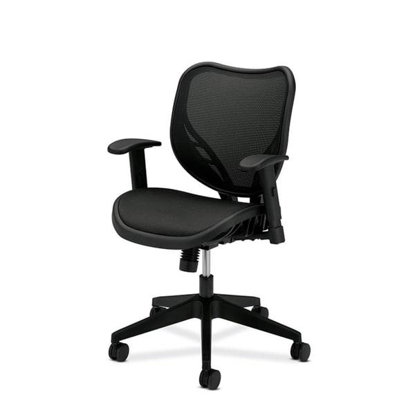 basyx by HON Black Mid-back Mesh Back Work Chair