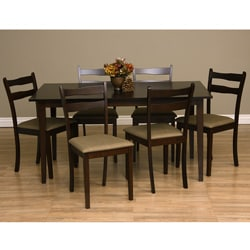 Warehouse of Tiffany Callan Seven-Piece Latte Dining Furniture Set