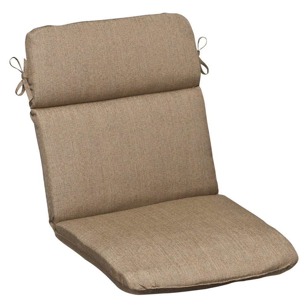 Pillow Perfect Outdoor Tan Rounded Chair Cushion with