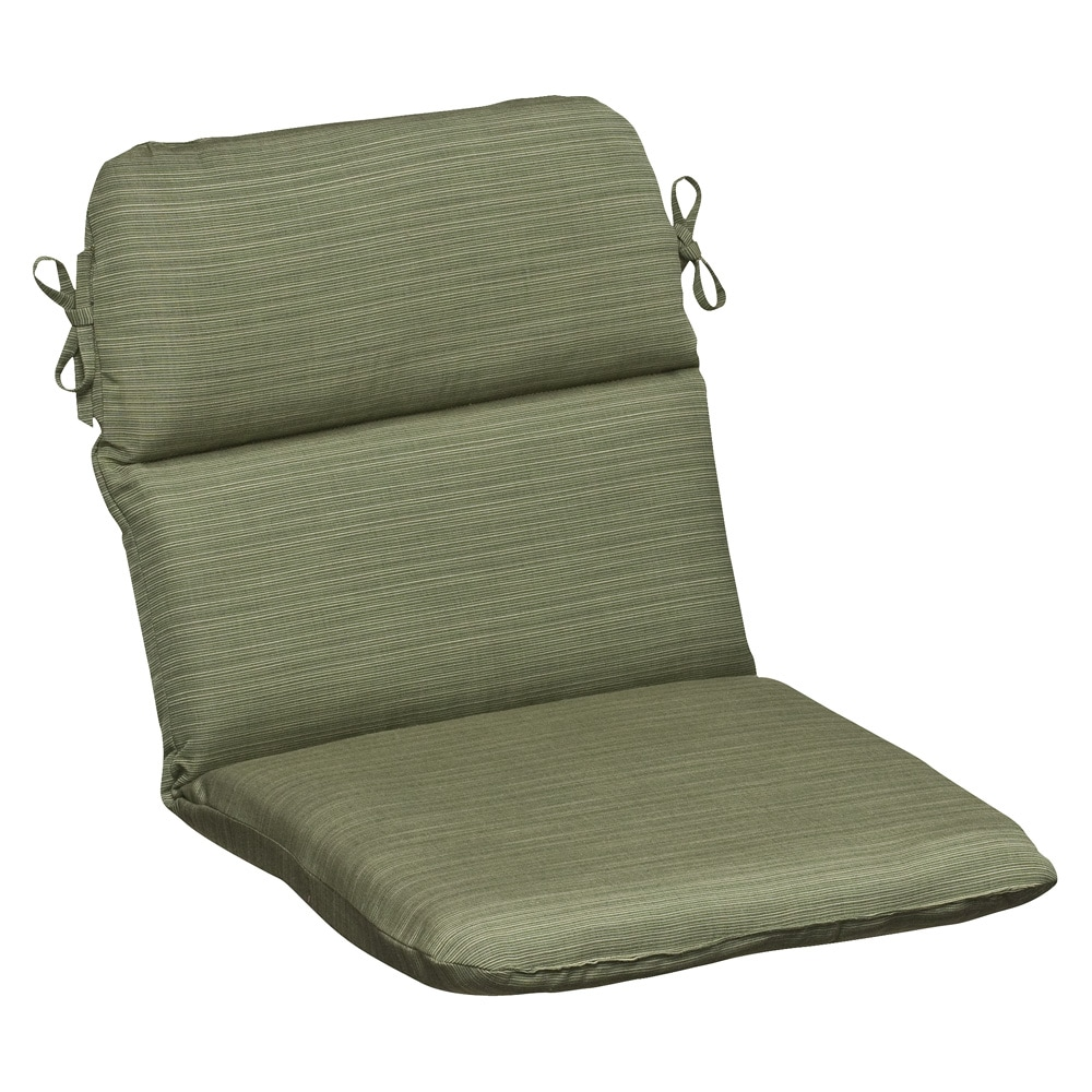 Pillow Perfect Outdoor Green Textured Chair Cushion with Sunbrella Fabric 1