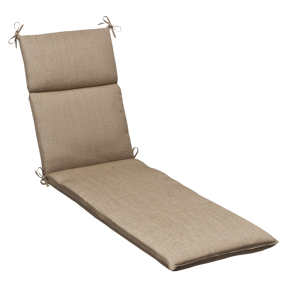Outdoor Tan Textured Chaise Lounge Cushion w Sunbrella