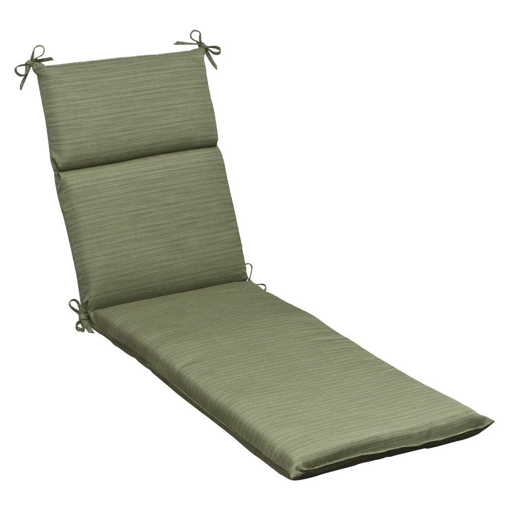 Pillow Perfect Outdoor Green Textured Chaise Lounge