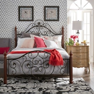 TRIBECCA HOME Madera Graceful Scroll Bronze Iron Metal Full-sized Bed