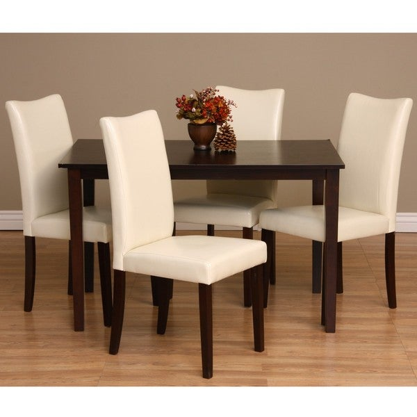 warehouse of tiffany shino 5 piece dining furniture set overstock