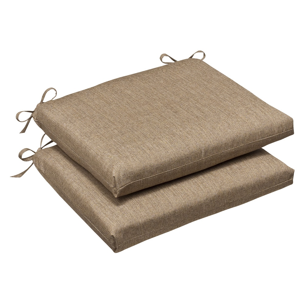 Pillow Perfect Outdoor Tan Textured Seat Cushions with Sunbrella Fabric Set