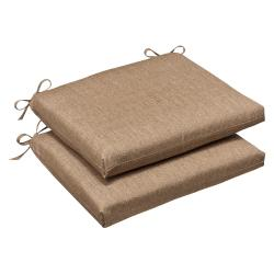 Pillow Perfect Outdoor Tan Textured Seat Cushions with Sunbrella Fabric (Set of 2)