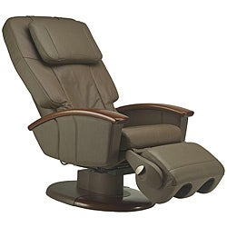 Cashew Human Touch Stretching Massage Chair with Wood Arms (Refurbished)