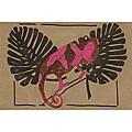 Set of 4 African Proverb Chameleon Cards (Kenya)