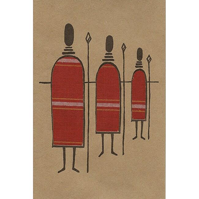 Set of 4 African Proverb Maasai Cards (Kenya)