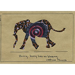 Set of 4 African Proverb Elephant Cards (Kenya)
