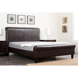 Abbyson Living Lexington Dark Brown Bi-cast Leather Queen-size Bed