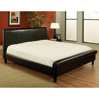 Abbyson Living Lexington Dark Brown Bi-cast Leather King-size Bed