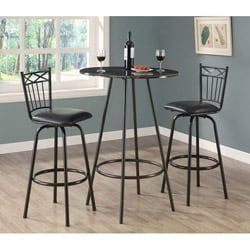 Charcoal Metal Swivel Barstool (Set of 2)