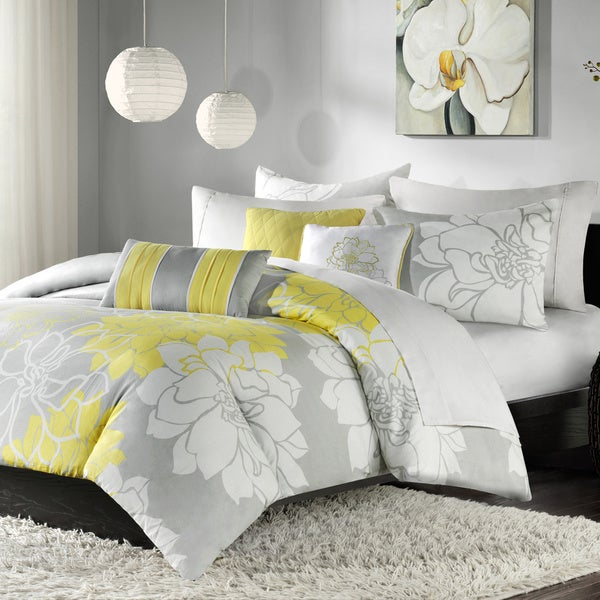 Madison Park 'Brianna' Contemporary 6-piece Duvet Cover Set (As Is Item)