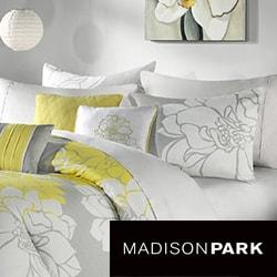 Madison Park 'Brianna' Contemporary 6-piece Duvet Cover Set