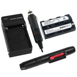 Battery/ Charger/ Lens Cleaning Pen for Sony NP-F530