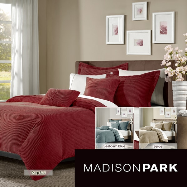 Madison Park Leland 5-piece Duvet Cover Set